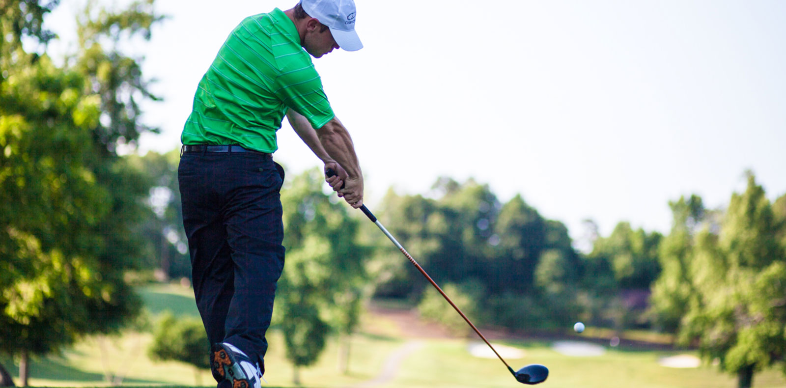 An example of impact using a Gravity Golf Swing