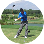 A Gravity Swing is one where all of the mass is moving through a golf shot
